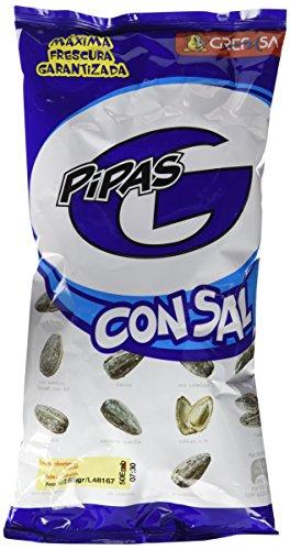 Pipas G con Sal. Semillas de girasol tostadas (165g)