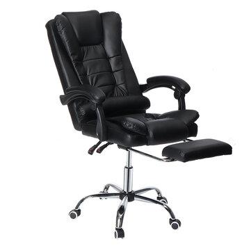 Silla ergonómica de oficina ejecutiva con reposapiés y reclinable 135 °