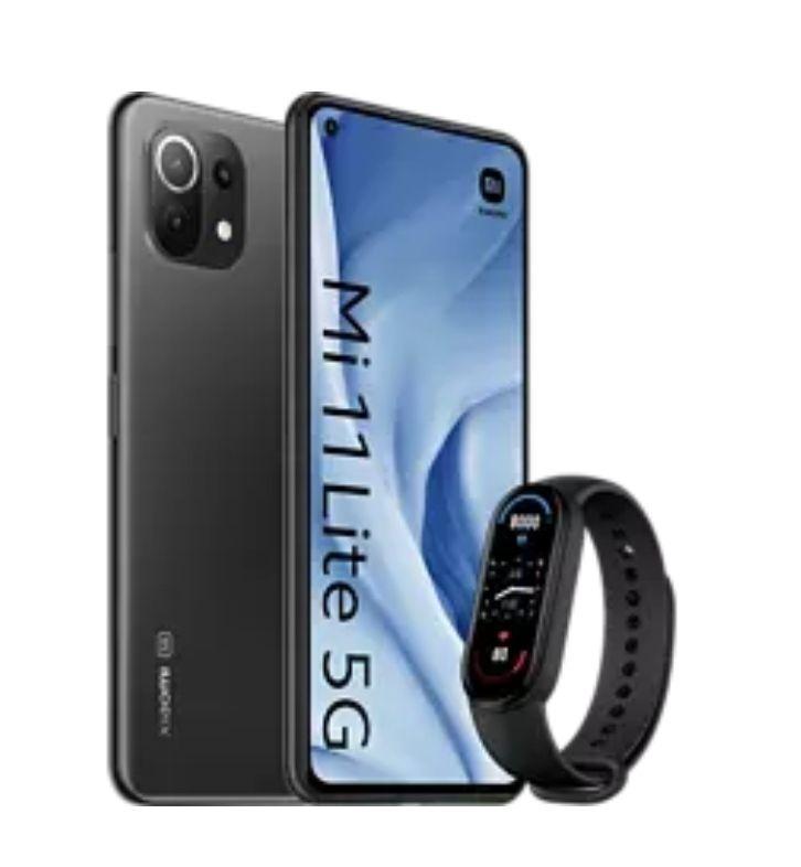 Xiaomi Mi 11 Lite 5G, Negro, 128GB, 8G RAM + Mi Band 6