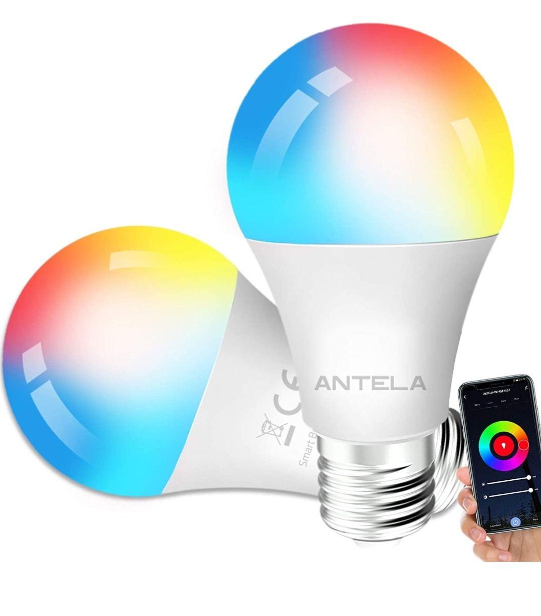 2 X Bombilla Inteligente LED E27 Wifi 9W