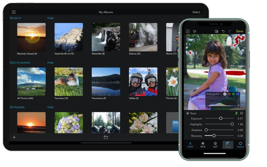 RAW Power, Editor de imágenes profesional para iOS