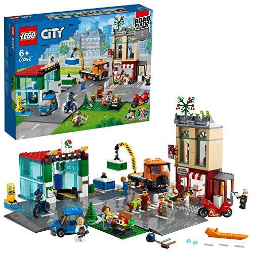 LEGO 60292 City Centro Urbano Set de Construcción para Niños +6 años con Moto, Bici, Camión y 8 Mini Figuras