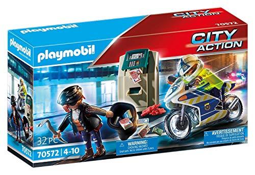 PLAYMOBIL Moto de Policía: persecución del ladrón de dinero