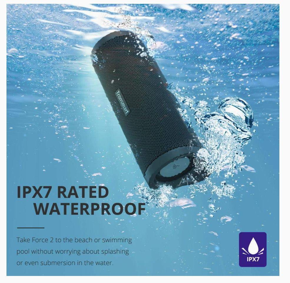 Tronsmart Altavoz Bluetooth impermeable de 30 W, Force 2 con Bluetooth IPX7 asistente de voz