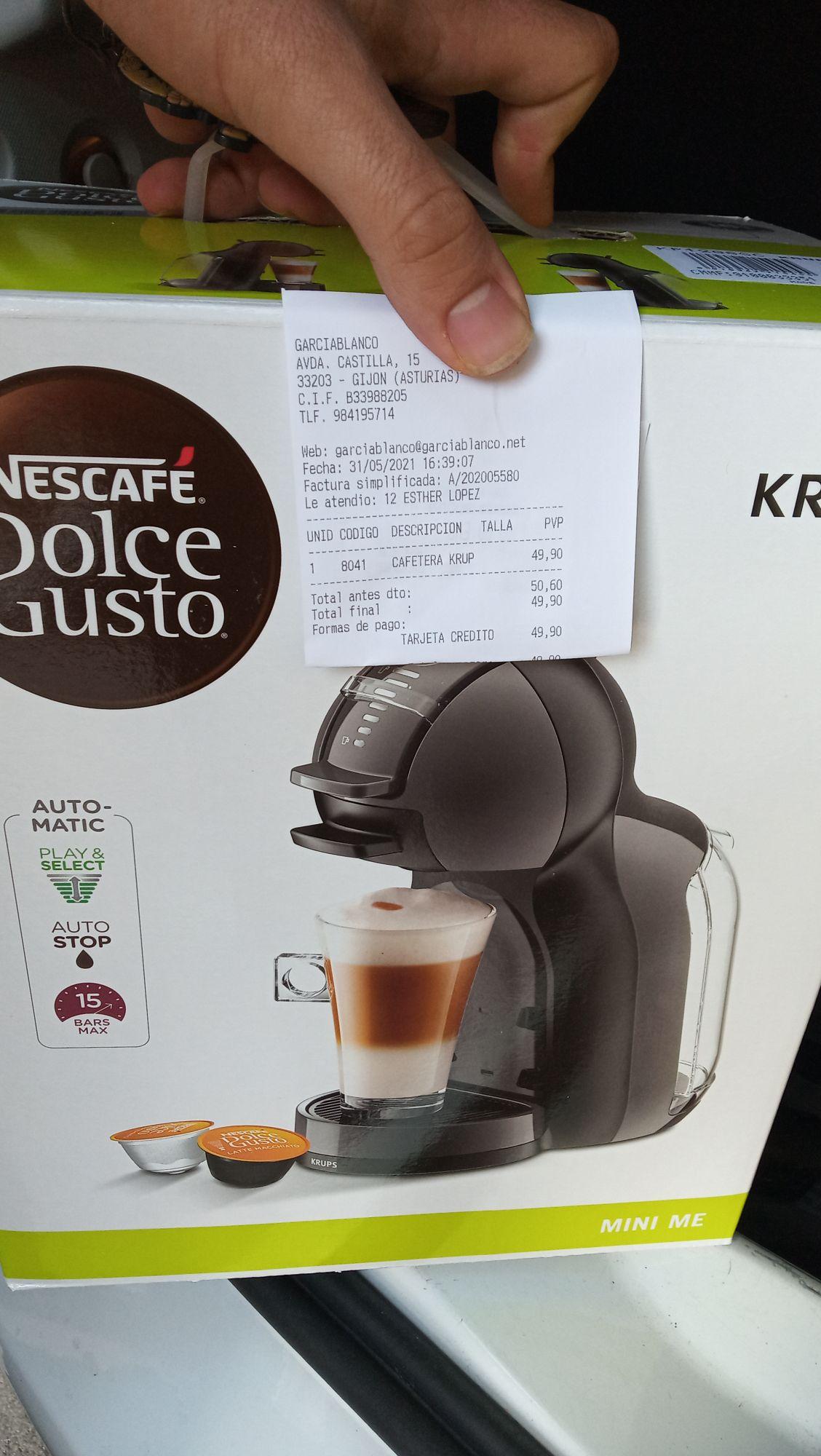 Cafetera Dolce Gusto Krup con selector de intensidad Euronics en Gijón
