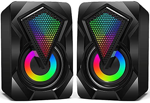 Altavoces PC Estéreo 2.0 rgb 3w