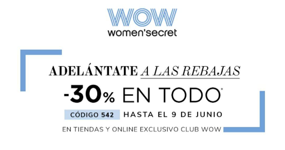 Descuento del 30% en todo en Women'secret!