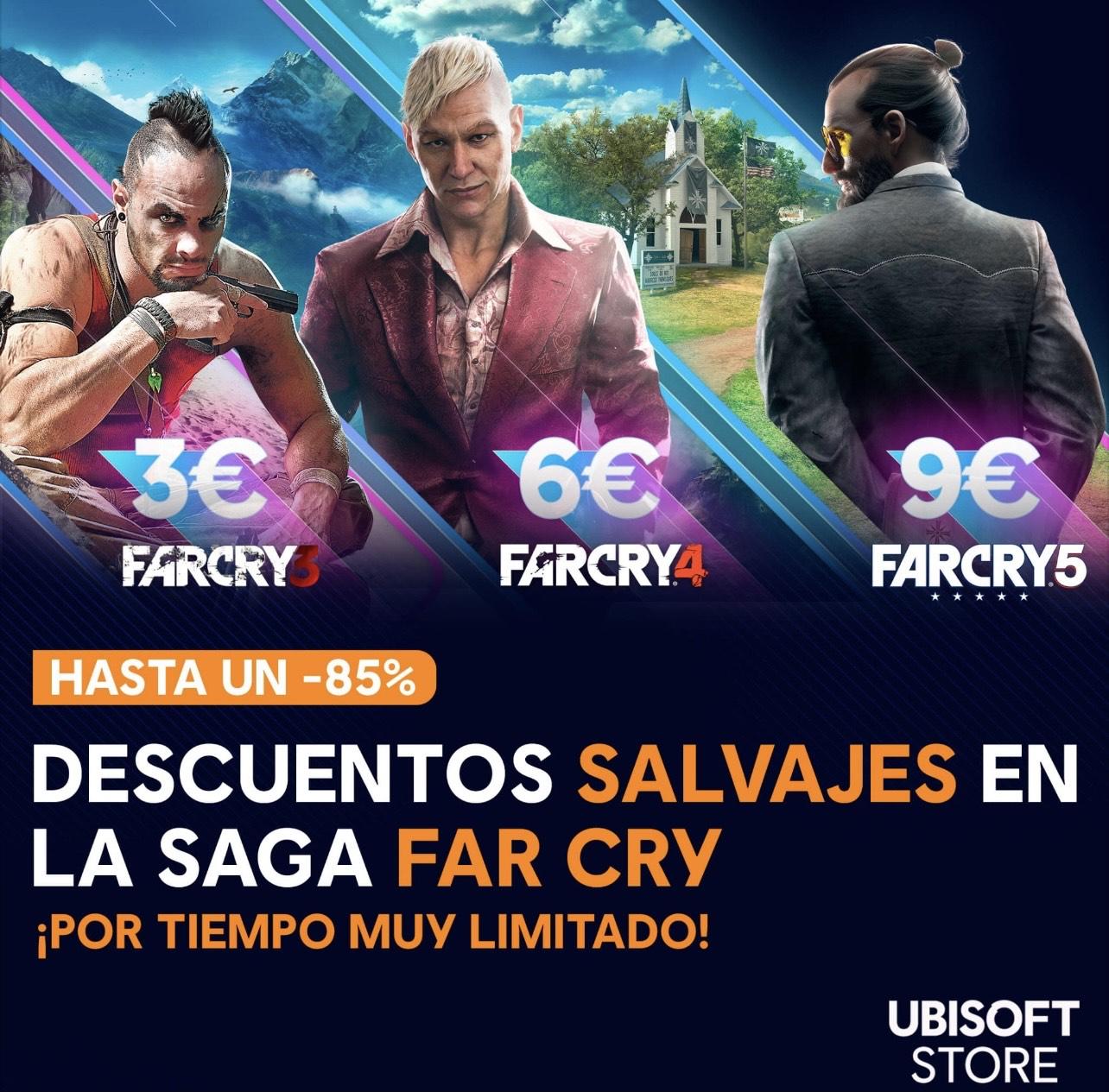 ¡Descuentos en toda la saga Far Cry!