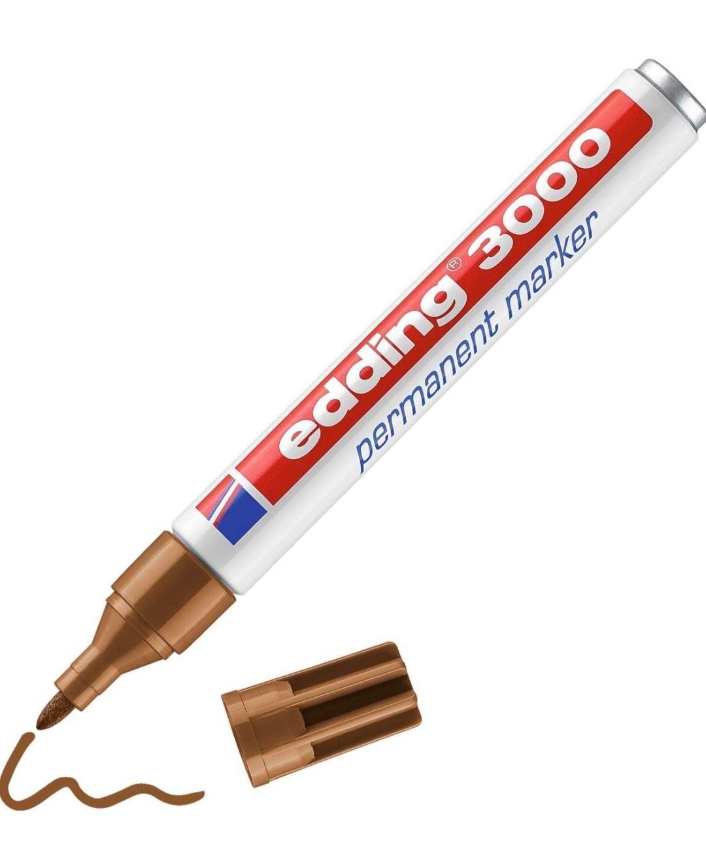Edding 3000 marcador permanente - ocre - 10 rotuladores - punta redonda 1.5-3 mm