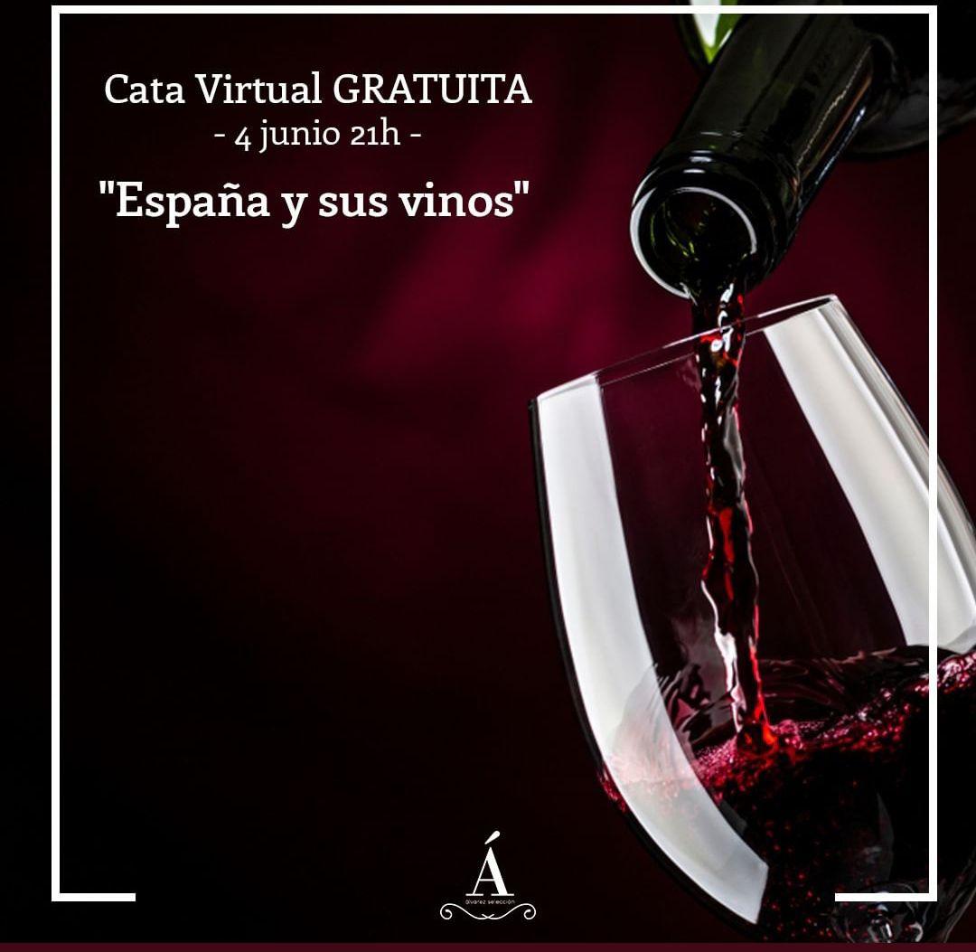 ¡España y sus Vinos! Cata Online Gratuita aprende desde tu Casa