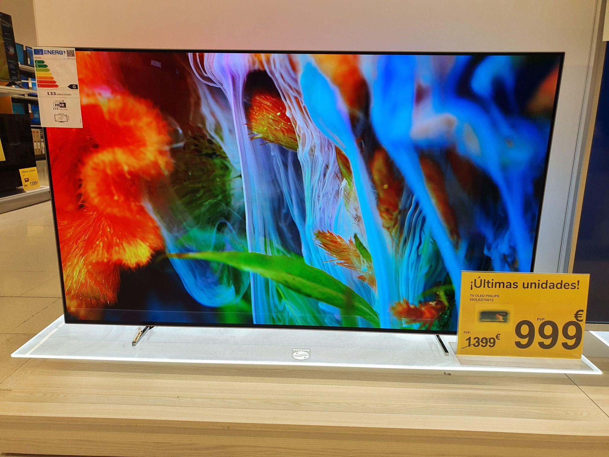 TV PHILIPS 55OLED754/12 (OLED - 55'' - 127 cm - 4K Ultra HD - Smart TV)