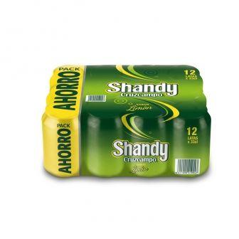 Cerveza Shandy Cruzcampo sabor limón pack 36 latas 36 cl. , comprando en 3x2, y más en oferta!!