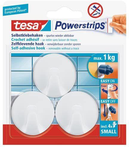 Tesa, ganchos adhesivos, soportan hasta 1kg