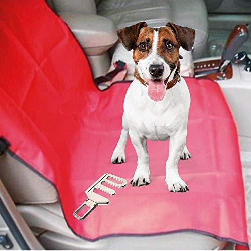 Pack de funda asiento individual y enganche al cinturón para la correa del perro o gato