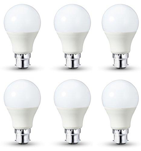 6 Bombillas LED B22 regulables, 10,5 W equivalente a 75 W a mitad de precio
