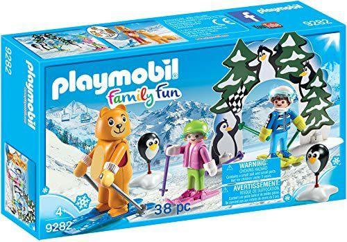 PLAYMOBIL- Escuela de Esquí, Multicolor