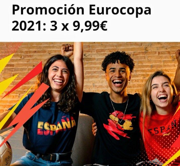 Promoción Eurocopa 2021! Pack de camisetas 3 x 9,99€ [ Descripción]