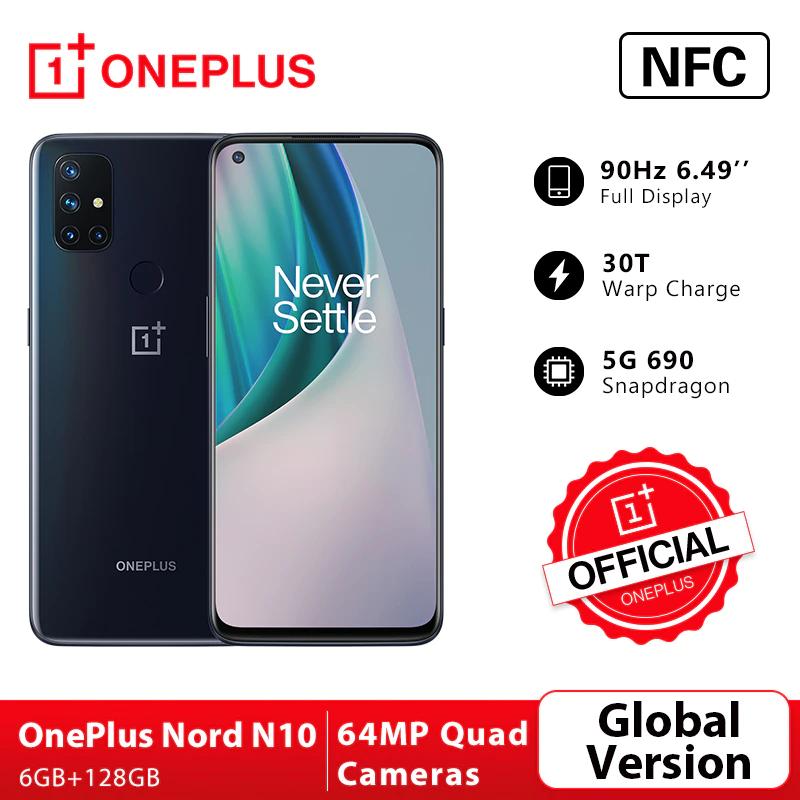 OnePlus Nord N10 5G, 6GB 128GB Snapdragon 690 por 169€