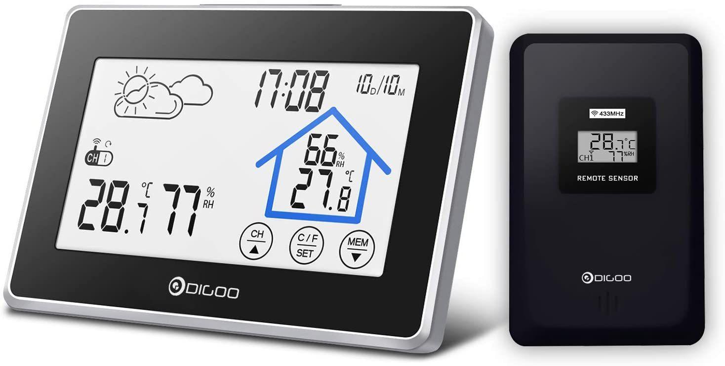 Estacion meteorologica con higrometro y pantalla tactil