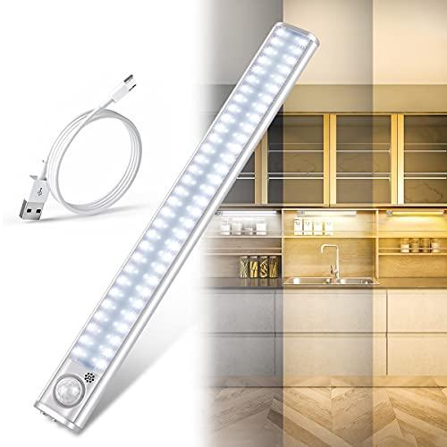 Luz Led Armario, Luz Armario 120 LED, USB Recargable Luces LED