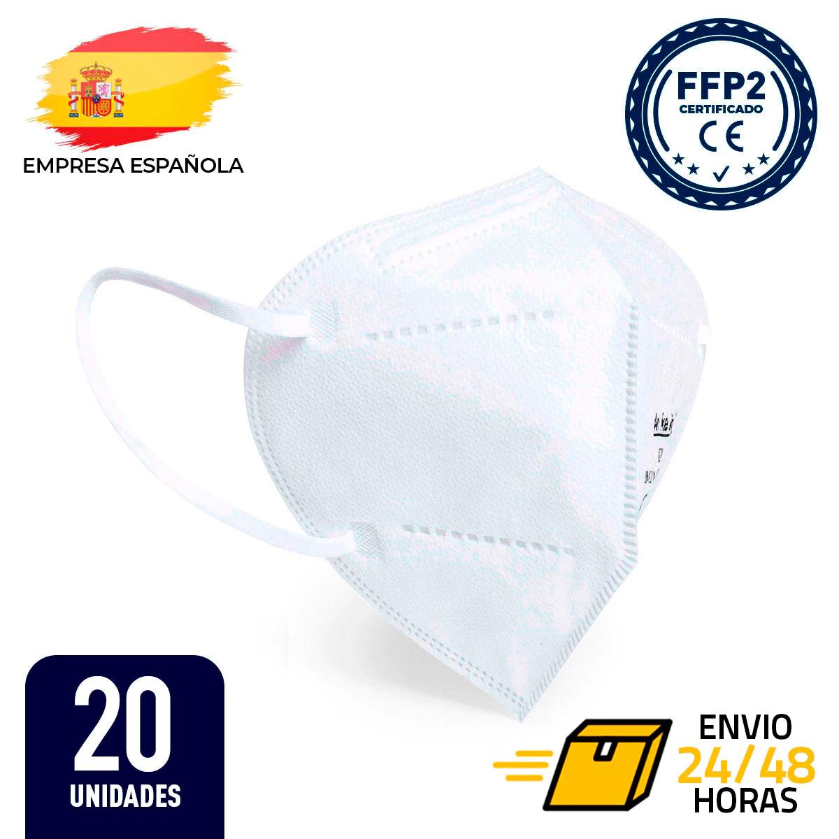 Caja 20 x Mascarilla FFP2 (5 capas, acabado termosellado y en bolsa individual) - Blanca