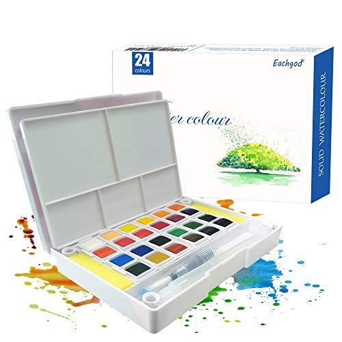 Set de Pinturas de Acuarela, 24 Colores