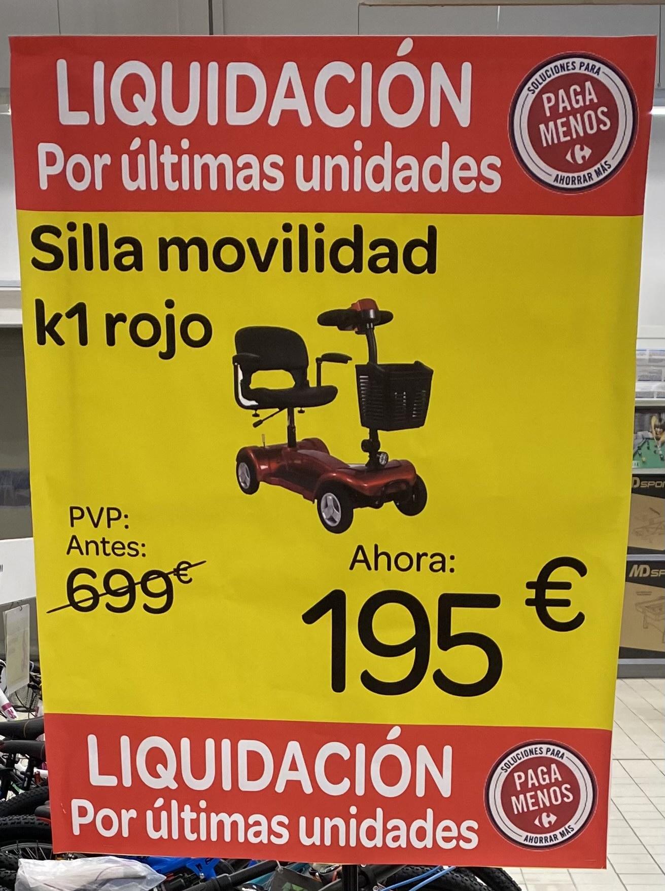 Silla movilidad K1 rojo (Carrefour Torrelavega )