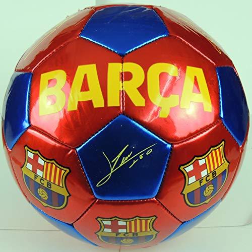 Balón Grande F.C. Barcelona Firmado, Producto con etiqueta oficial del club.