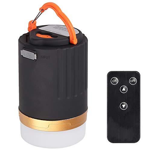 3 en 1 LED Lámpara de Camping Recargable USB & Banco de Energía con Contro Remoto de 3 Modos