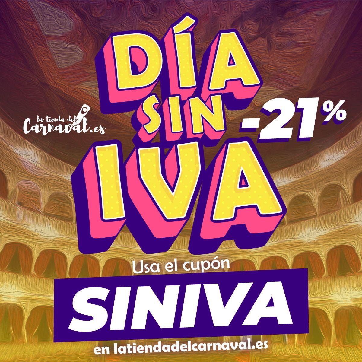 DÍA SIN IVA en La Tienda del Carnaval de Cádiz