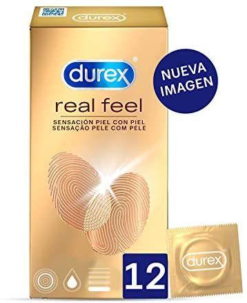 Durex Preservativos Sensitivos Real Feel Sin Látex (12 unidades)