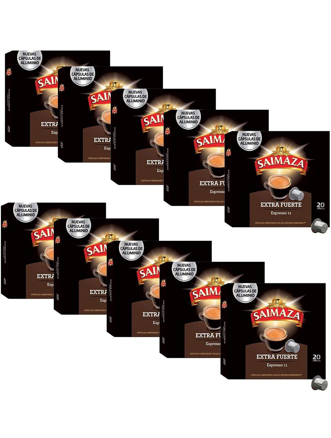 200 cápsulas tipo Nespresso SAIMAZA