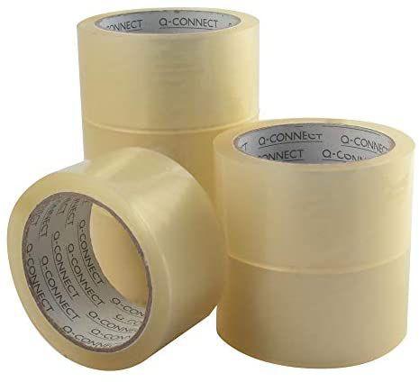 6 rollos Cinta Adhesiva Polipropileno Transparente 66 Mt X 50 Mm