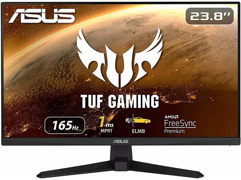 "Monitor Asus TUF 23.8"" IPS FullHD 1ms 165Hz Curvo FreeSync Premium"
