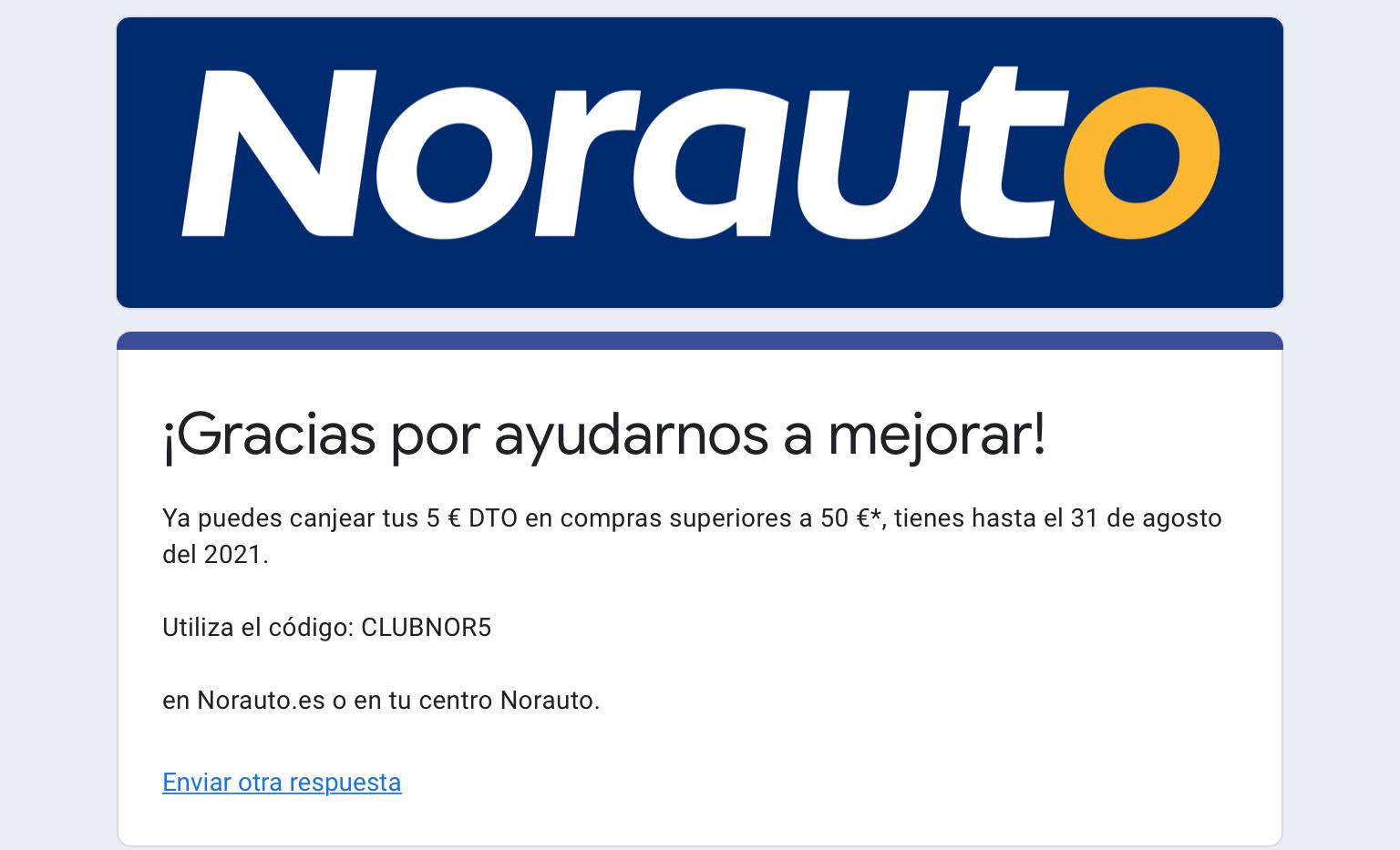 Norauto -5€ (Min. de 50€)