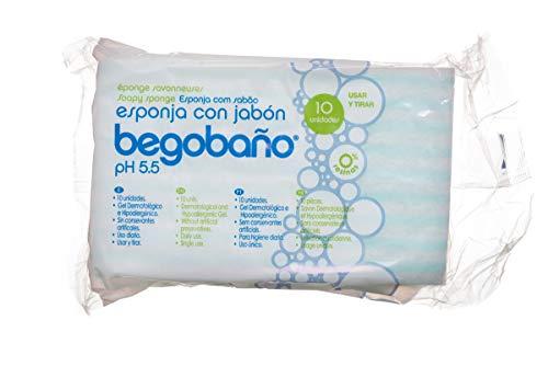 Pack 10 esponjas jabonosas dermatológicas e hipoalergénicas