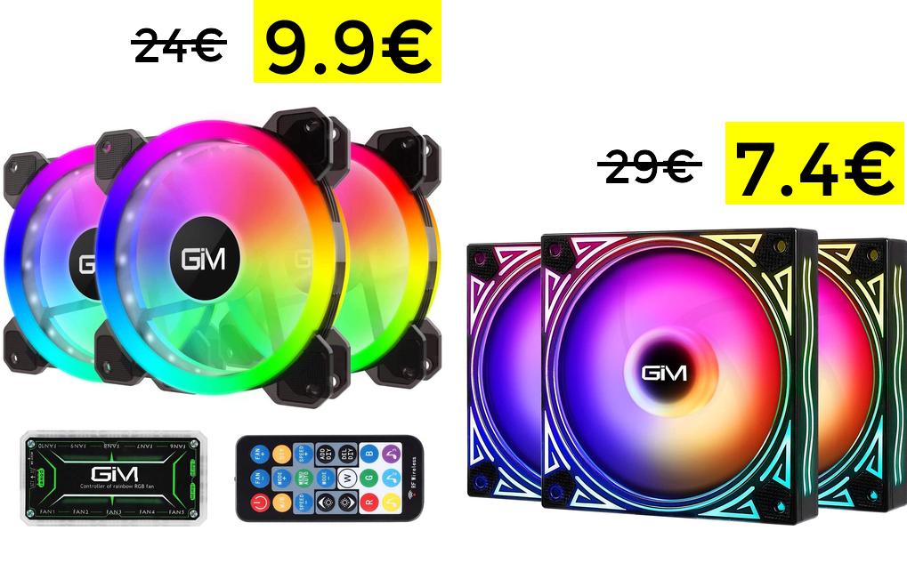 Ventiladores RGB 120 mm