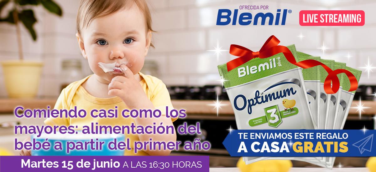 Apuntate a una charla en Streaming y recibe en casa un pack de productos Blemil para el bebé