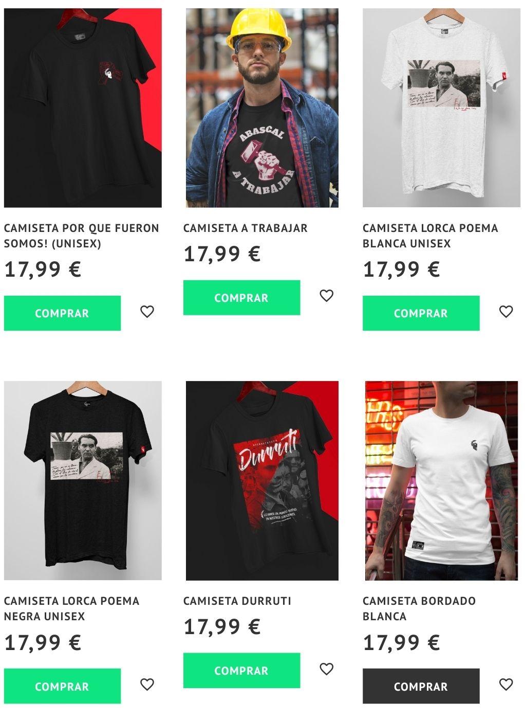 3 camisetas x 40€
