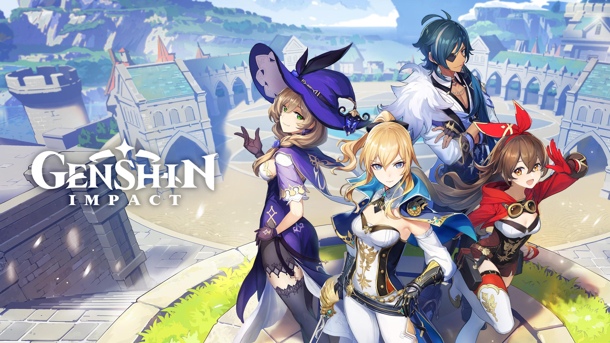 Pack de recompensas gratis para Genshin Impact con motivo de su llegada a la Epic Games Store