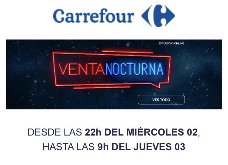Ofertas de venta nocturna en Carrefour