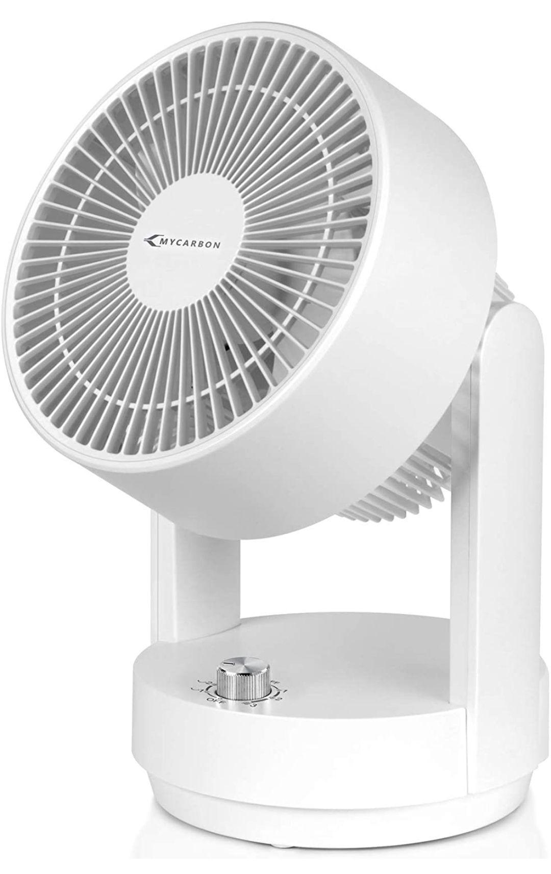 Ventilador de Mesa Ventilador Silencioso con 3 Velocidades Oscilante