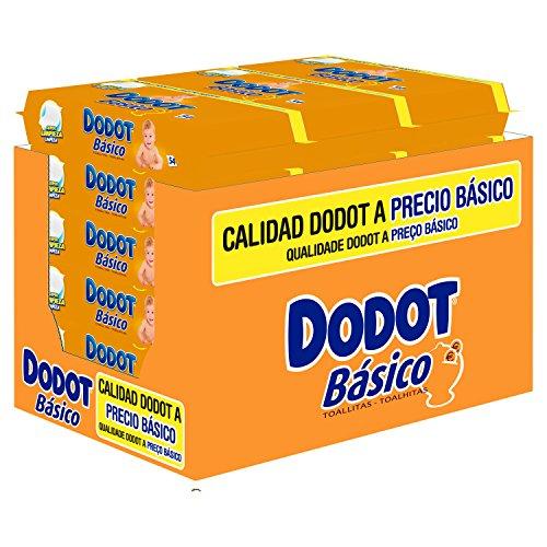 Pack de toallitas Dodot 6 paquetes x 54 (Total 324 unidades)