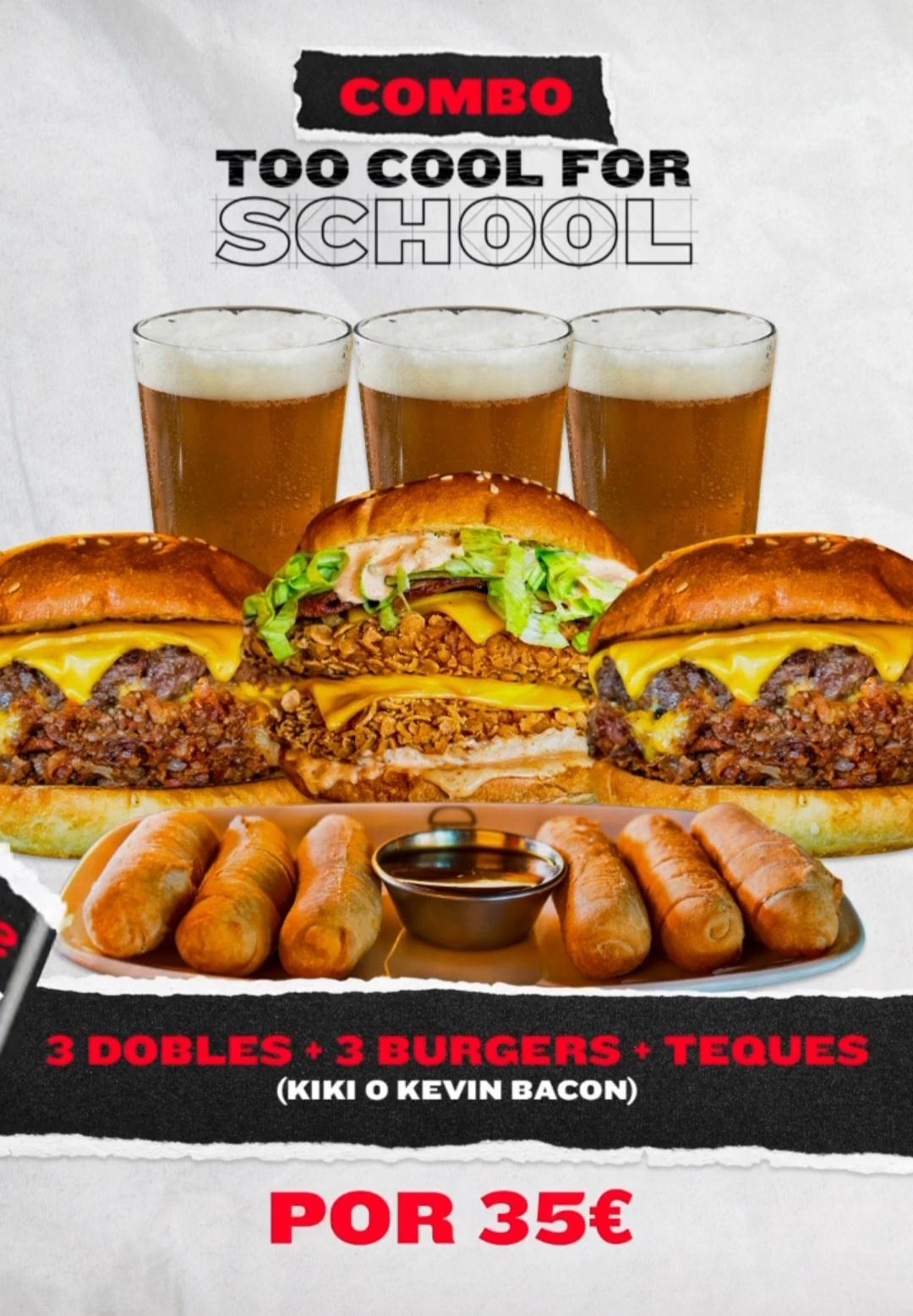 Oferta en Goiko 3 cervezas + 3 hamburguesas y una ración de teques por 35 euros