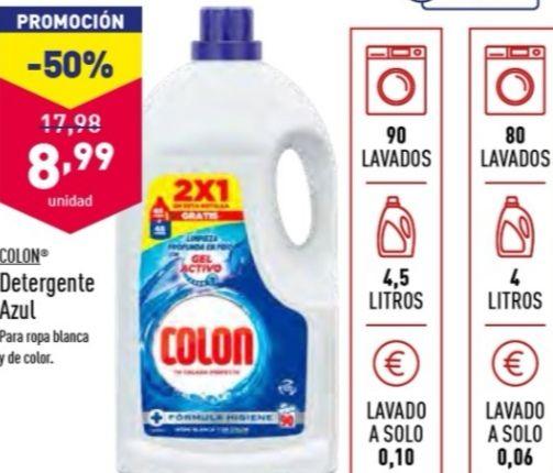 Detergente COLON 90 lavados, para ropa blanca y de color (+en descripción)