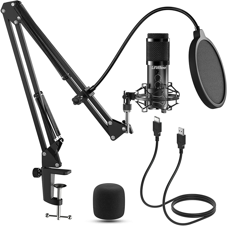 LIFEBEE Micrófono de Condensador, Profesional Estudio