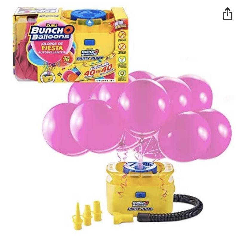 X-Shot - Hinchador eléctrico con 16 globos de fiesta autosellantes