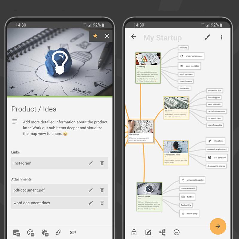 Mindz - Mindmap (Pro) mapa mental para Android (4,8*)