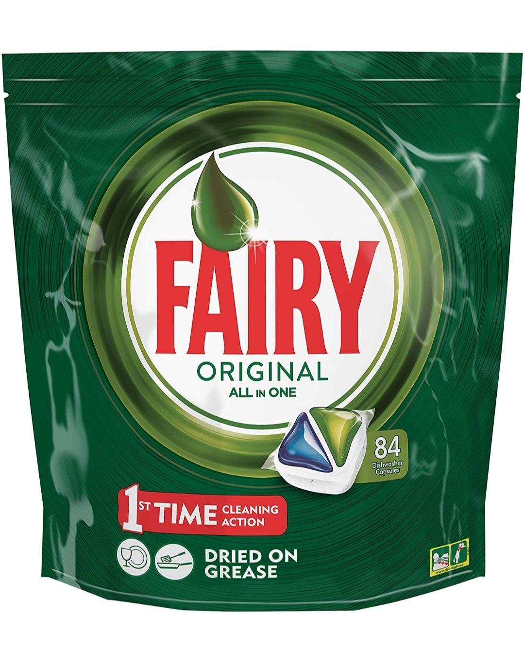 84 cápsulas para lavavajillas de Fairy todo en uno