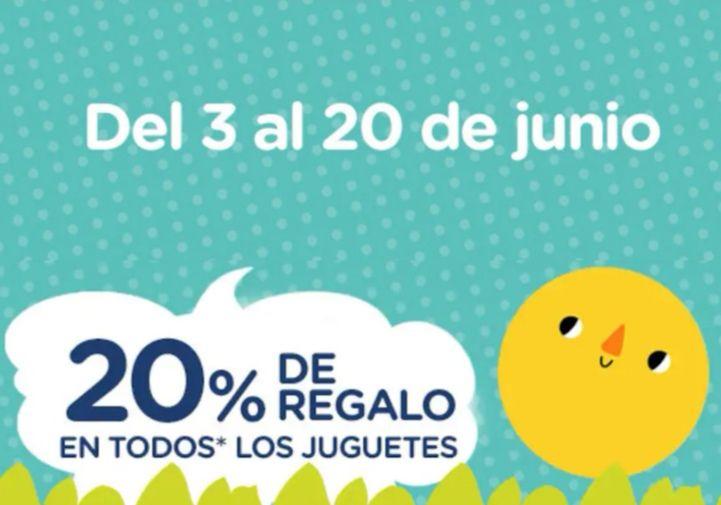 20% De Regalo en todos los Juguetes!